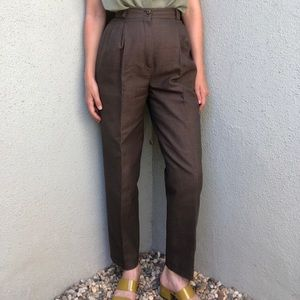Pants - [vintage] high waist houndstooth wool trousers